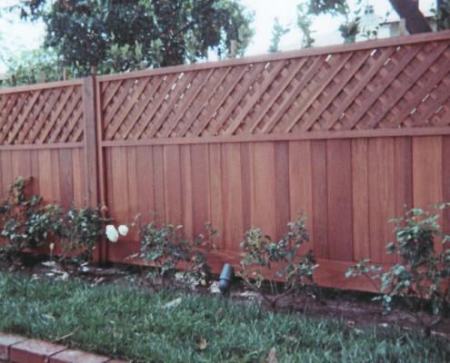 Wood Fence, Lattice, Privacy Lattice